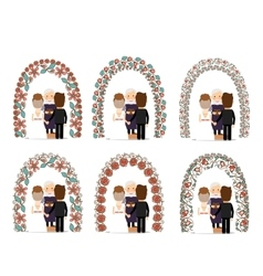 Wedding arch set vector