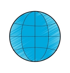 World sphere icon vector