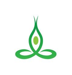 abstract leaf meditation logo image vector image