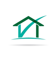 Checked house logo vector