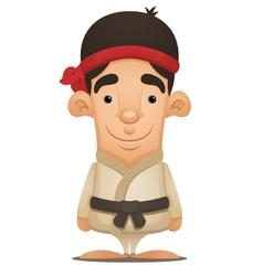 karate boy vector image vector image