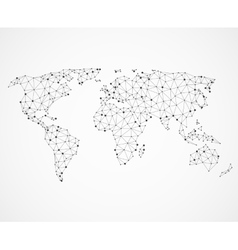 Networking world map texture low poly earth vector image
