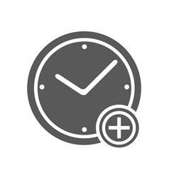time plus icon simple vector image vector image