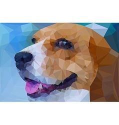 Beagle polygon geometric vector image