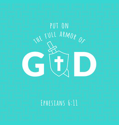 bible verse from ephesians vector image vector image