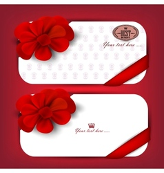 Collection of gift cards vector image vector image