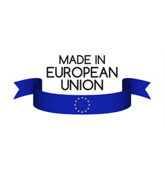 colored ribbon with the colors of the eu vector image vector image