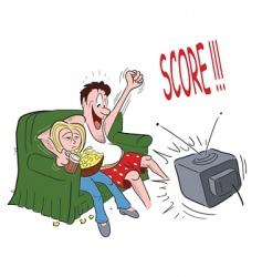 couple sofa sports vector image vector image