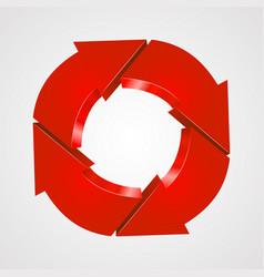 creative arrows circle recycle sign vector image
