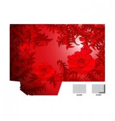 template for folder design vector image vector image