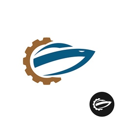 Yacht boat repair and service logo Spare parts vector image