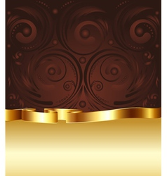 Brown and Gold Background4 vector image vector image