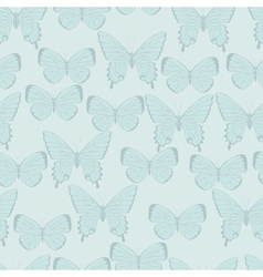 Butterflies Beautiful background with a flower vector image vector image