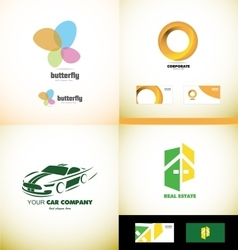 Company logo design elements icon set vector image vector image
