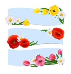 Floral Banners Horizontal vector image