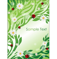 floral elements and insects vector image vector image