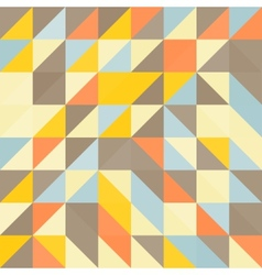 Geometric triangles background Mosaic vector image