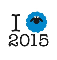 I love 2015 year Sticker card or print on T-shirt vector image vector image