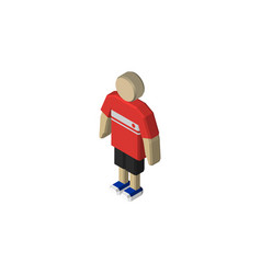 isolated boy isometric guy element can be vector image