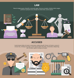 Legal conviction horizontal banners vector