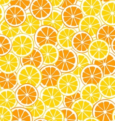 lemons and oranges slices seamless pattern vector image vector image