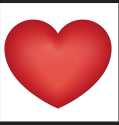 red heart on a white vector image vector image