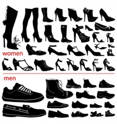 women and men shoes vector image