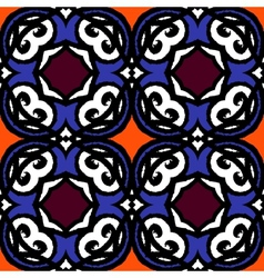 multicolor ethnic pattern Indian motifs vector image vector image
