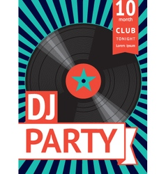 vintage party poster vector image vector image