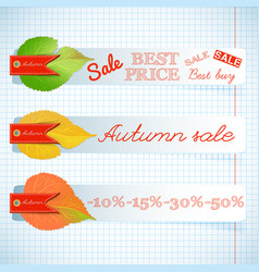 abstract seasonal sale floral horizontal banners vector image