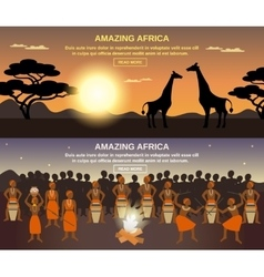 African people banners set vector