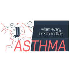 Banner bronchial asthma vector