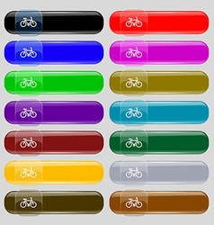 Bicycle icon sign Set from fourteen multi-colored vector