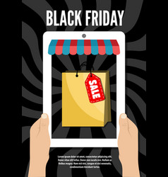 black friday electronic commerce design vector image