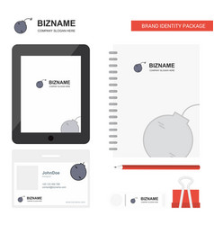 bomb business logo tab app diary pvc employee vector image