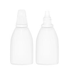 bottle drop vector image