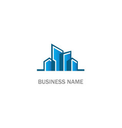 building abstract business company logo vector image