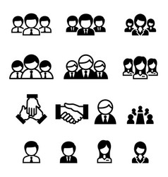 Business team staff icon vector