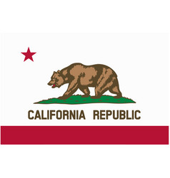 california flag vector image