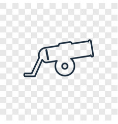 Cannon concept linear icon isolated on vector