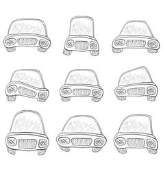 cartoon set cars contours vector image