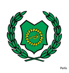 Coat arms perlis is a malaysian region vector