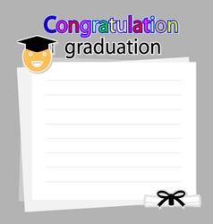 Congratulation graduation background vector image
