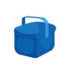 Cooler bag icon cartoon style vector