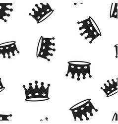 Crown diadem icon seamless pattern background vector