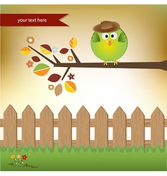 cute little boy bird vector image