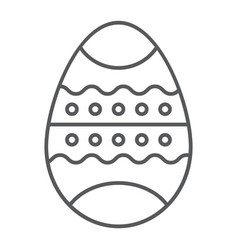 easter egg thin line icon decor and easter vector image
