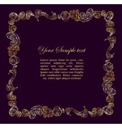 Elegant vintage frame vector image