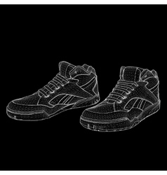 eps 10 of Sport shoes for vector image