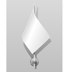 flag on flagstaff vector image